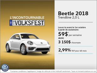 Louez la Beetle 2018 dès aujourd'hui!