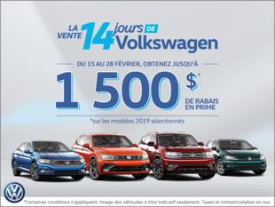 La vente de 14 jours de Volkswagen!