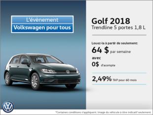 Obtenez la Golf 5 portes 2018 dès aujourd'hui!