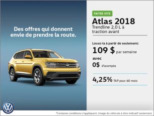 Conduisez l'Atlas 2018 dès aujourd'hui!