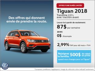 Conduisez le Tiguan 2018 dès aujourd'hui!