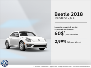 Conduisez la Beetle 2018 dès aujourd'hui!