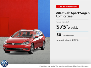 Lease the 2019 Golf SportWagen!