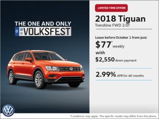 Lease the 2018 Tiguan!