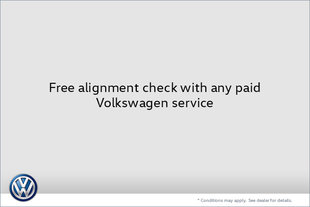 Free Alignment Check with Any Paid Volkswagen Service