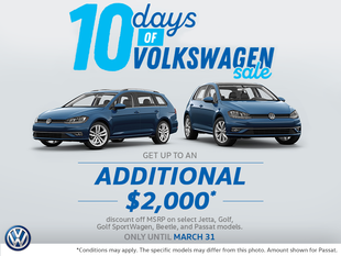 10 Days of Volkswagen Sale