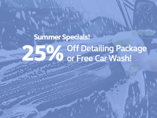 25% Off Detail / Free Car Wash