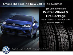 Smoke The Tires in a New Golf R This Summer