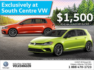 Exclusively at South Centre Volkswagen!