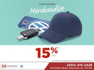 15% Off Volkswagen Marchandise!