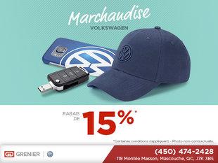 Rabais de 15% sur les produits Volkswagen!