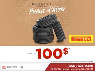 Remise sur les pneus d'hiver!