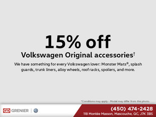 15% Off Volkswagen Original Accessories