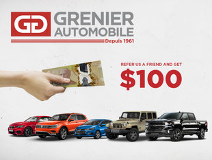 Refer us a friend and GET $100