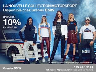 Obtenez 10% de rabais sur la nouvelle collection Motorsport