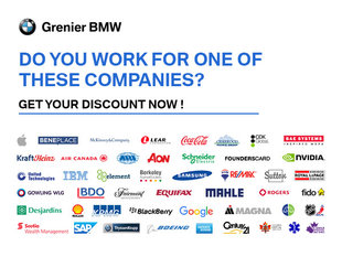 Grenier BMW Corporate discounts