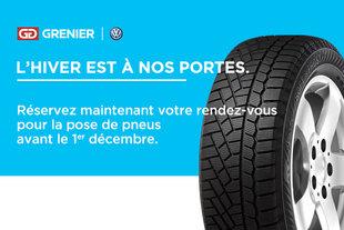 Installation pneus d'hiver