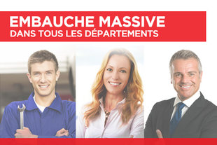 EMBAUCHE MASSIVE!