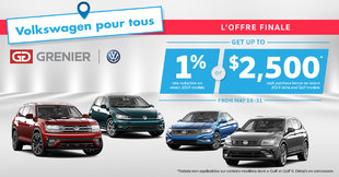 Grenier Volkswagen : FINAL OFFER!
