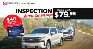 Inspection before the holidays - GM Visa Card