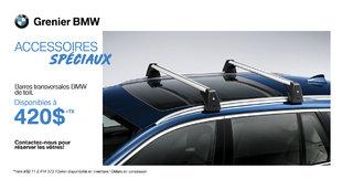 Barres transversales BMW de toit !