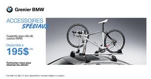 Supports pour vélo de course BMW !