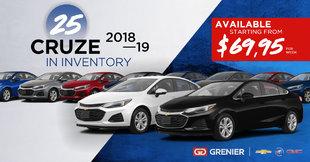 25 Cruze in inventory