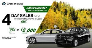 BMW 4 days sale event