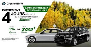Vente 4 jours BMW