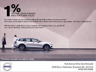 Volvo Loyalty Bonus Offer