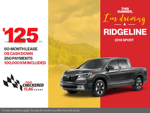 Lease the 2018 Honda Ridgeline!