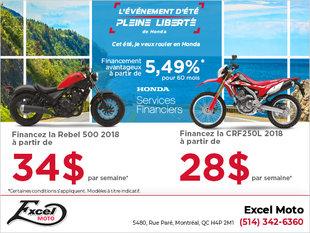 Événement Honda sur les motos
