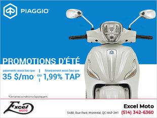 Piaggio promotions d'été
