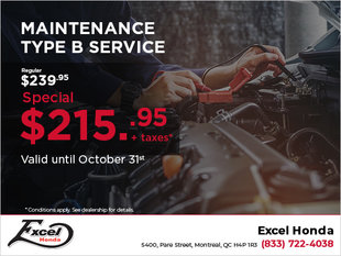 Maintenance Type B Service