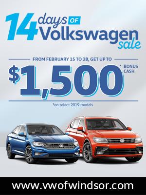 Volkswagen of Windsor 14 Day Sale Event