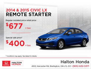 Save on Your Remote Starter For Your Civic!