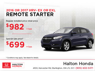 Save on Your Remote Starter for Your HRV!