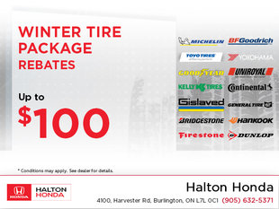 Winter Tire Package Rebates!