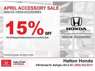 April Accessory Sale