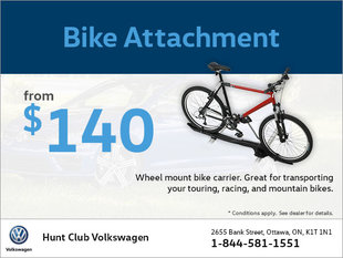 Get a Bike Attachment from $140!
