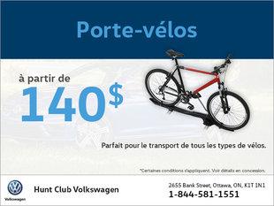 Obtenez un porte-vélos à partir de 140$!