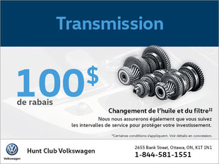 Économisez sur la transmission!