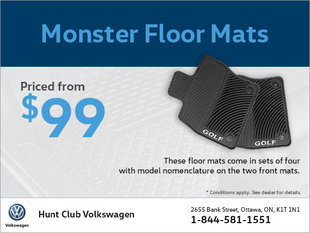 Get Monster Floor Mats from $99!