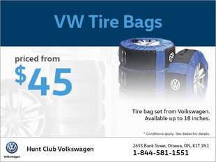 Get VW Tire Bags from $45!