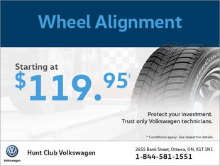 Get a Wheel Alignment from $99!