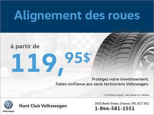 Obtenez un alignement des roues à partir de 99$!