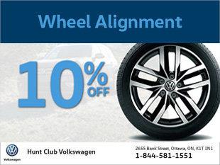 Obtenez un alignement des roues à partir de 119$!