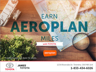 Earn Aeroplan Miles With Toyota!