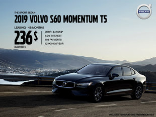 Volvo S60 Promotion - August 2019