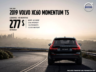 Volvo XC60 promotion - August 2019